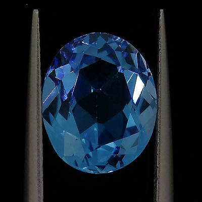 4.43ct oval cut natural blue topaz loose diamonds gemstones gems recycled