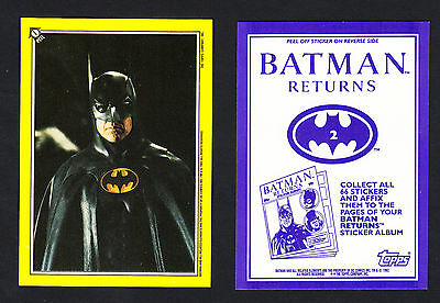 Batman Returns - Topps 1992. Full set of 66 hard to find stickers.