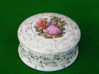 Porcelain Antique Decorated Box with Lid