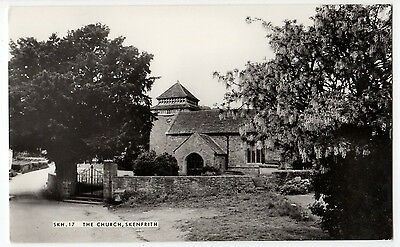 THE CHURCH, SKENFRITH ~ AN OLD REAL PHOTO POSTCARD BY FRITH'S (o15)