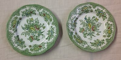 """2 x Wedgwood Oriental Pheasants 6 3/4"""" Tea/Side/Bread and Butter Plates"""