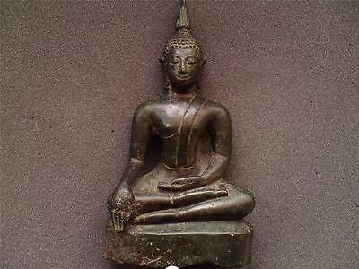 Thai Siam Ayutthaya period (1350-1767) bronze buddha figure 18th century