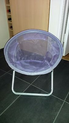 Purple foldable/folding Childrens Moon chair/seat, for TV, Camping, Beach,Garden