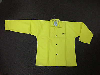 North by Honeywell PVC on Nylon Rain Jacket Fire Resistant Size Large