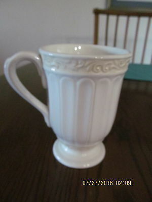 Beautiful New Larg Ivory Cream Butlers Pantry Footed Mug By Lenox