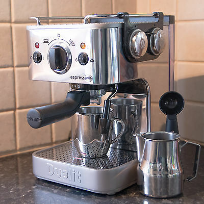 Dualit DCM1 Coffee Maker Machine - Stainless Steel - Espesso, Capuchino, Latte,