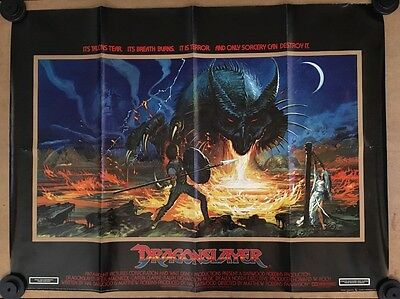 Dragonslayer - Original British Quad Movie Poster Cult Cinema Film