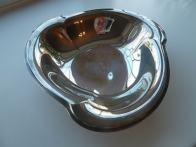 VINTAGE SILVERPLATED FOOTED BONBON SWEET FRUIT DISH BOWL, 23cms