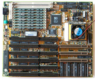 Vintage Working 486 ABIT AN4TR2 Motherboard intel DX2-66 CPU Processor PC System