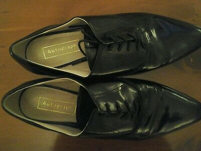 Marks and spencer  Authograph black pointed lace up shoes