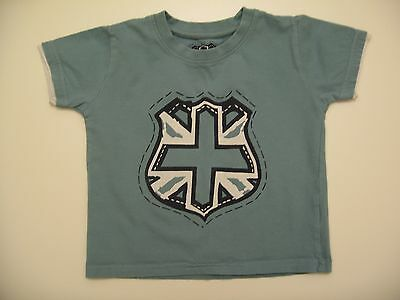 Baby Boys Matalan Blue UK Flag T-Shirt/Top 12-18mths - Used Ex Cond