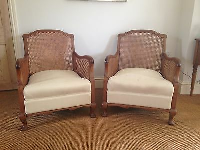 Lovely pair of antique Bergere chairs