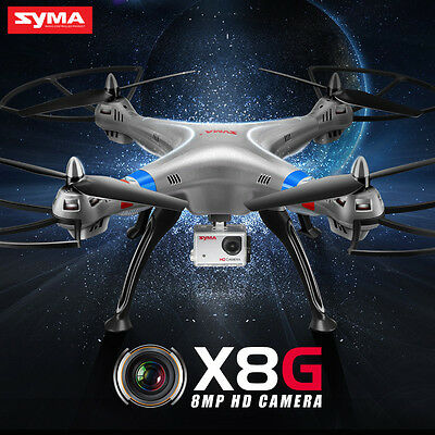 Syma X8G RC Quadcopter Drone with 8MP HD Camera & Headless Mode UK Stock