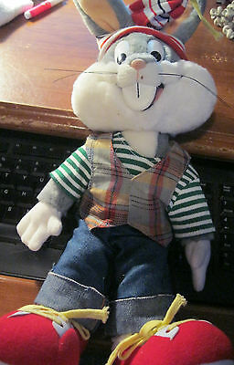 Bugs Bunny w/Dew Wrap-Warner Brothers 1993~Plush Doll Looney Toons