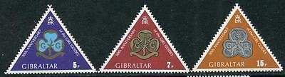 Gibraltar: 1975 Gibraltar Girl Guides set of 3 stamps SG346-348 MNH X040