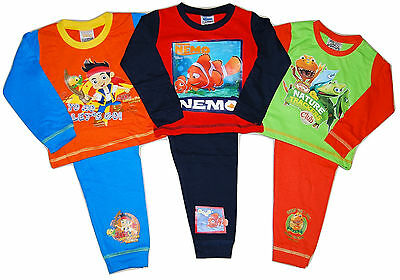 Boys Dinosaur Train Jake Pirates Muppets Animal Nemo Pyjamas 12 18 24 Mths 2 3 4