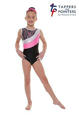 Gymnastic & Dance Wear Leotard Tappers & Pointers Gym 43 Pink Size 2 = 9/10 Yrs