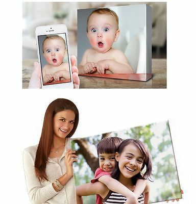 YOUR PHOTO CANVAS PRINT personalised GIFT ready to hang - BOX framed