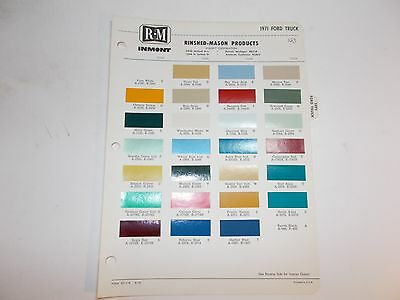 1971 Ford Truck Rinshed-Mason Paint Chip Samples
