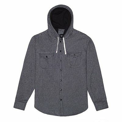 HUF Jacke Shirt-Jacket square grey black Größe L