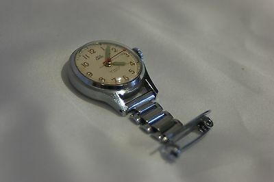 Vintage Smiths Empire nurse fob watch with stainless steel pendant brooch