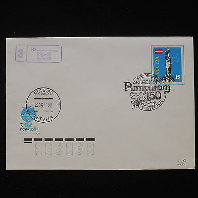 ZS-AA007 LATVIA - Fdc, 1991 Mint Cover
