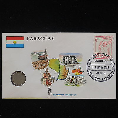 ZS-AA053 PARAGUAY - Numisbrief, 1988 Fdc, Fruits, Animals, Monuments Cover