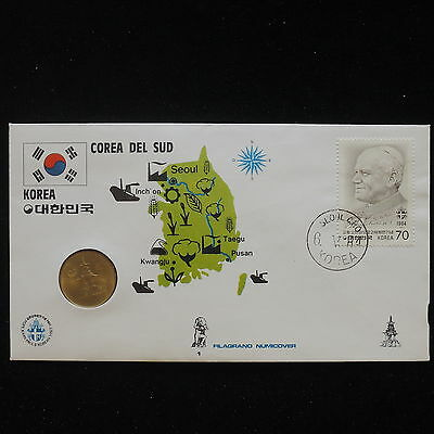ZS-AA061 S. KOREA - Numisbrief, 1981 Fdc, Maps, Agriculture Cover