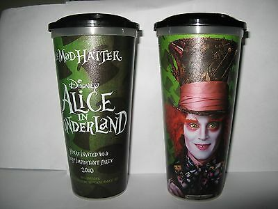 CINEMA MOVIE CUP DISNEY's ALICE IN WONDERLAND With JOHNNY DEPP As THE MAD HATTER