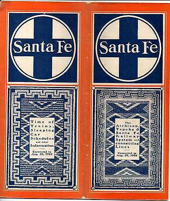 Santa Fe RY AT&SFRY Public Timetable August 20 1909