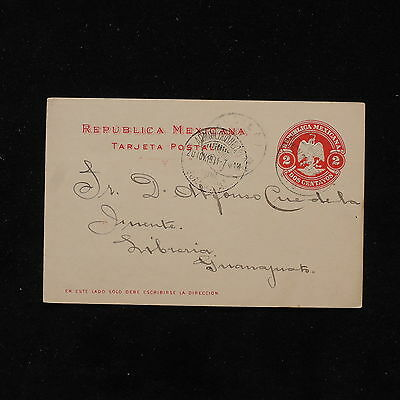 ZS-AB821 MEXICO - Cover, 1919 2 Centavos Red To Guanajuato