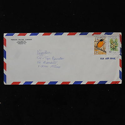 ZS-AB842 TRINIDAD & TOBAGO IND - Birds, Flowers, Airmail To Milan Italy Cover