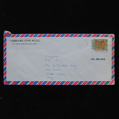 ZS-AB855 BARBADOS IND - Airmail, 1988 From St Peter To Milan Italy Cover