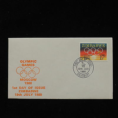 ZS-AC809 ZIMBABWE - Olympic Games, 1980 Fdc, Moscow Olympics Cover