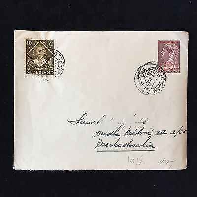 ZS-AC925 CURACAO - Netherlands, 1918 From Rotterdam To Czechoslovakia Cover