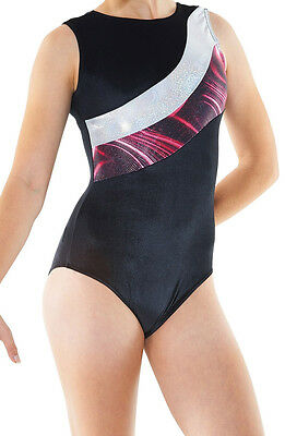 Gymnastic & Dance Wear Leotard Tappers & Pointers Gym 20 Black Size 2= 9/10 Yrs