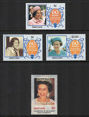 St. Lucia - 60th Birthday of Queen Elizabeth II  (1986) MNH