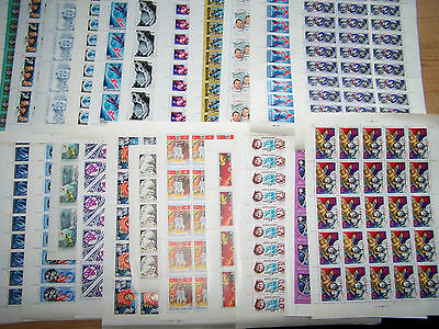 25 Different Russia Space Theme,complete Sheets,u/mint.excellent..