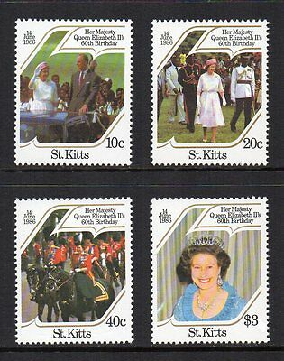St. Kitts - 60th Birthday of Queen Elizabeth II  (1986) MNH