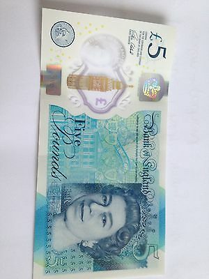 New Five Pound Note AA Serial Code