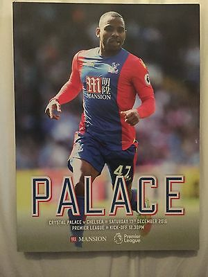 Crystal Palace v Chelsea 17th December 2016 Premier League Matchday Programme