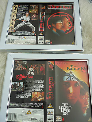 The karate kid part 1 & 2 Ralph Macchio Double Bundle Cover Vhs sleeves Framed