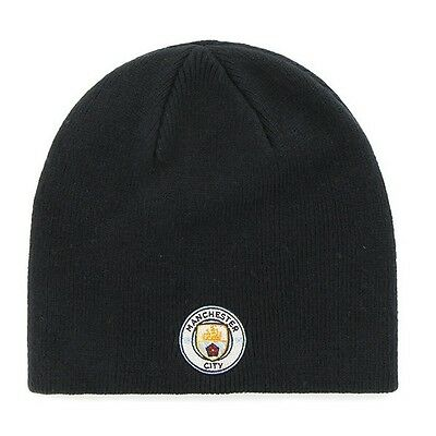 MANCHESTER CITY Official Beanie  Navy  Hat Crested   FREE (UK) P+P