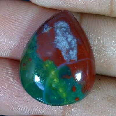 22.70Cts 100% Natural Blood Stone Pear Cabochon Untreated Losse Gemstones