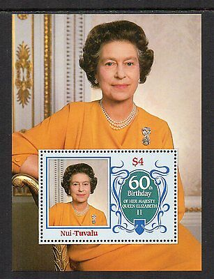 Tuvalu-Nui - 60th Birthday of Queen Elizabeth II  (1986) MNH (Mini-Sheet)