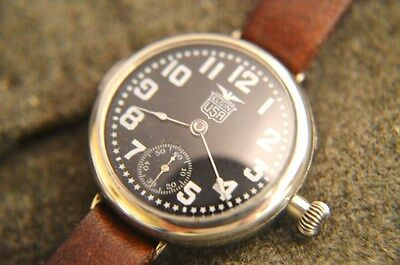 Trench watch repair and restoration, case polish, movement overahaul and adjust