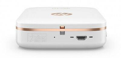 HP Sprocket Photo Printer Pocket Size Portable Bluetooth With LED White Color