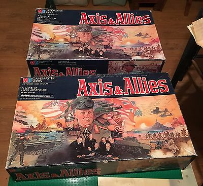 (Lot Of 2) Axis And Allies 1984 Board Game Complete