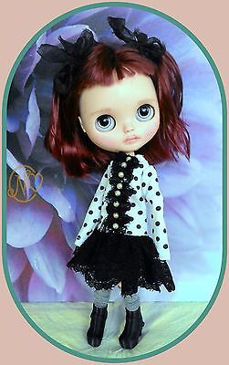 Lovely Blythe doll outfit* 4 pieces* dress* socks* boots* dress hanger*