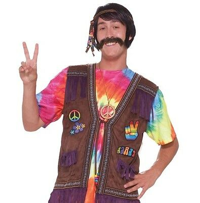 60's 70's Fringed Hippie Male Costume Vest Adult Standard